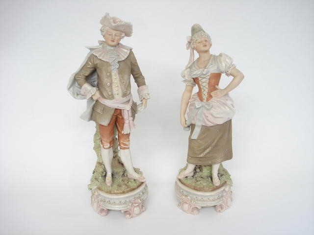 A pair of Royal Dux Bohemia figures, Circa 1900