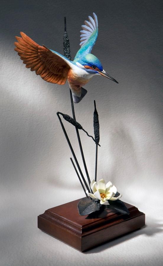 Статуэтка «Зимородок» из серии «Садовые и певчие птицы Англии». Костяной фарфор. Royal Worcester. XX век