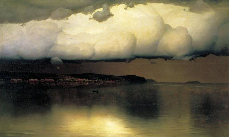 Н. Дубовской. «Притихло». 1890 г. Третьяковская галерея