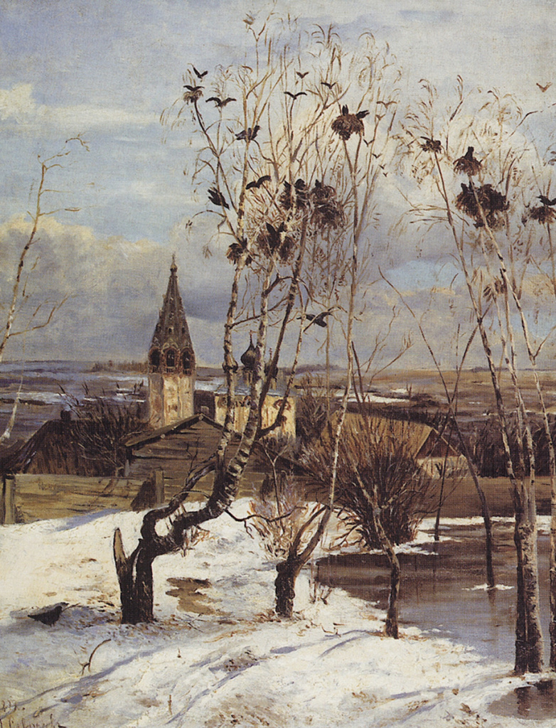 Алексей Саврасов. «Грачи прилетели». 1871 г.