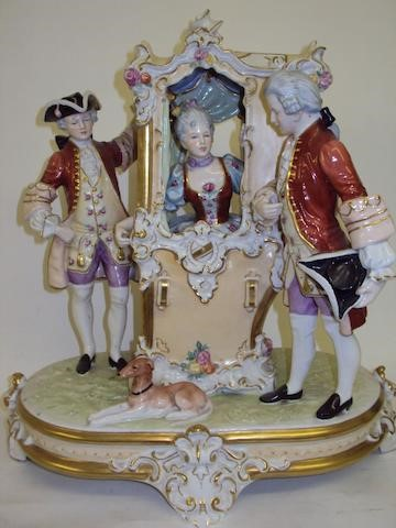 A Royal Dux figure group