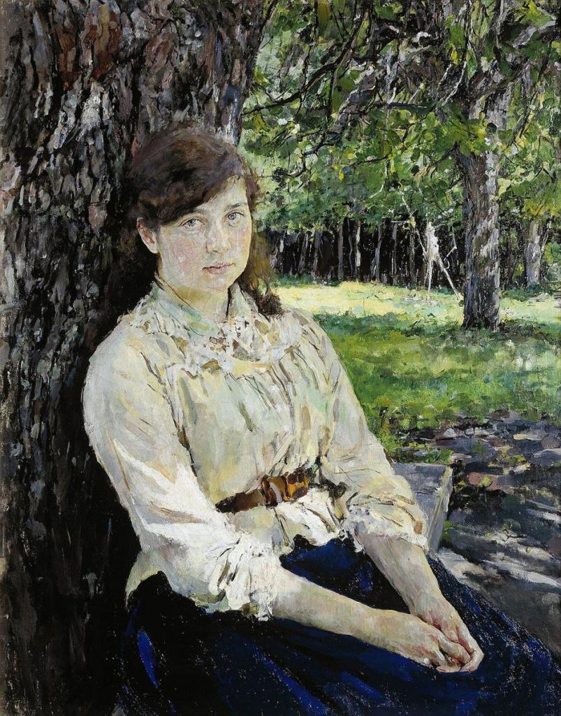 портреты девушек в работах художников