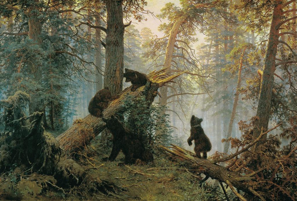 И. Шишкин, К. Савицкий. «Утро в сосновом лесу». 1889 г.