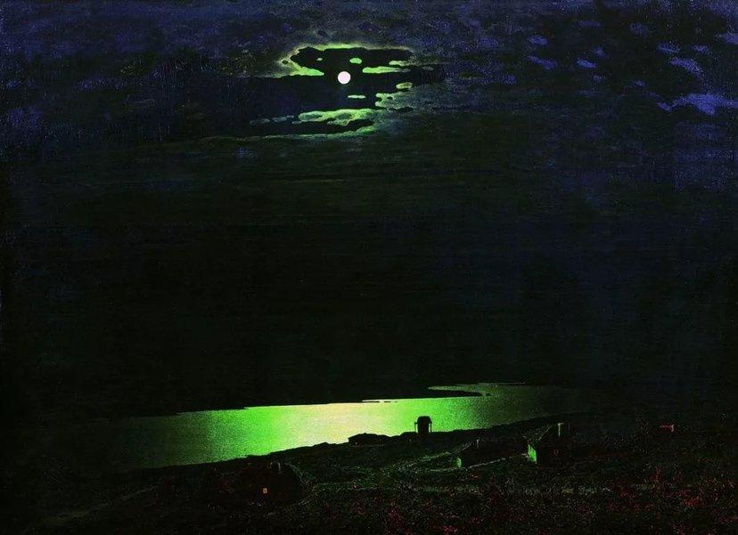 А. Куинджи. «Лунная ночь на Днепре». 1880 г.